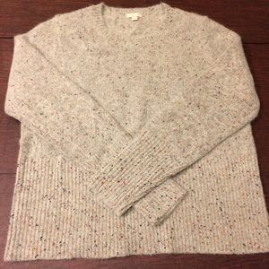 J Crew collection marbled crewneck sweater L